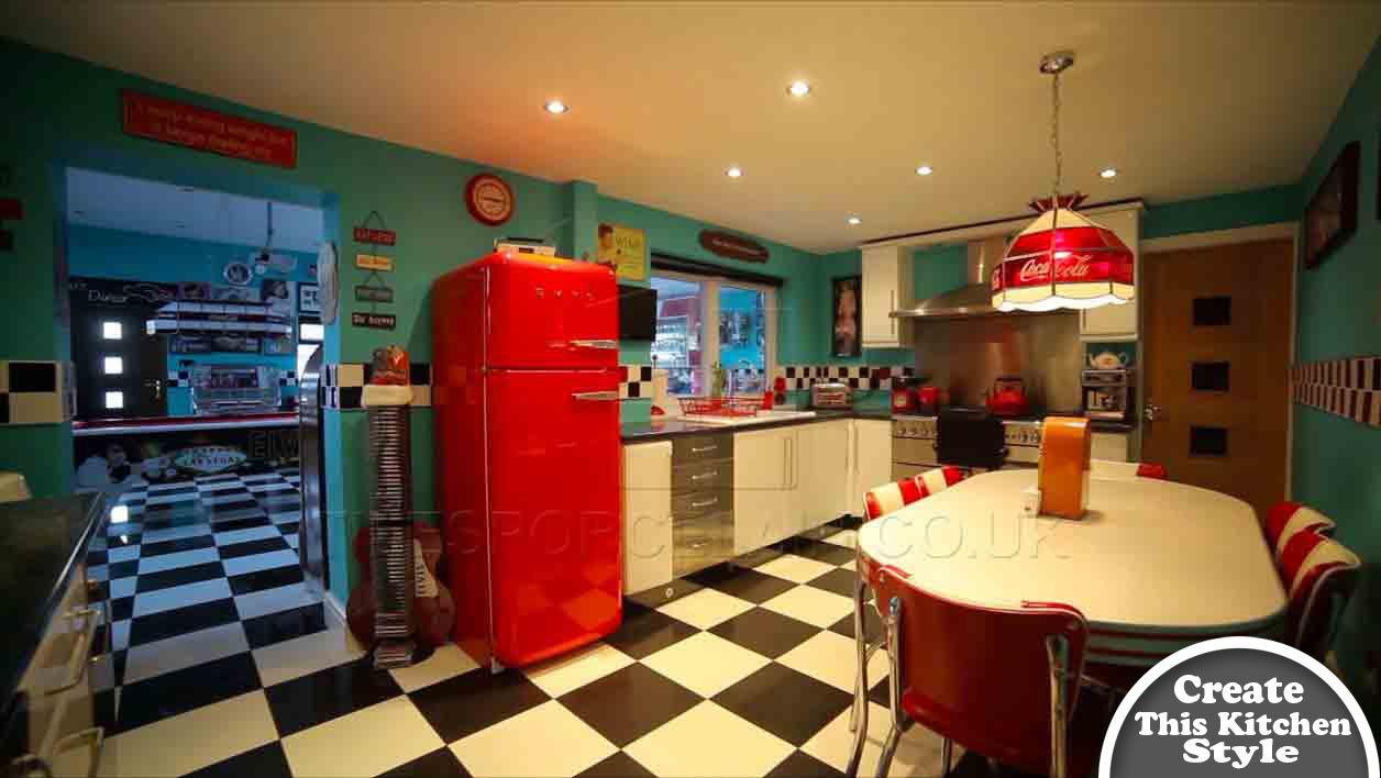 retro diner kitchen ideas - Google Search | Random | Pinterest