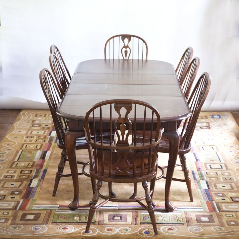 Astounding Solid Maple Dining Table And Chairs By E R Buck Shepherd Ibusinesslaw Wood Chair Design Ideas Ibusinesslaworg