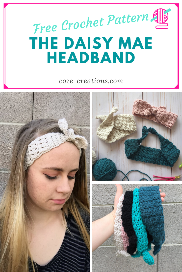 Free Crochet pattern Spring Headband