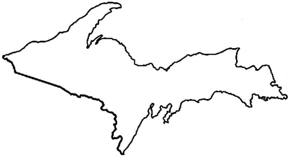 Outline Template Of Upper Peninsula Of Michigan  Google Search