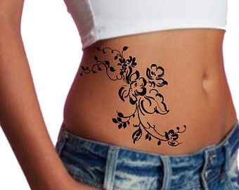 Temporary Tattoo Shoulder Flower Ultra Thin Realistic ...
