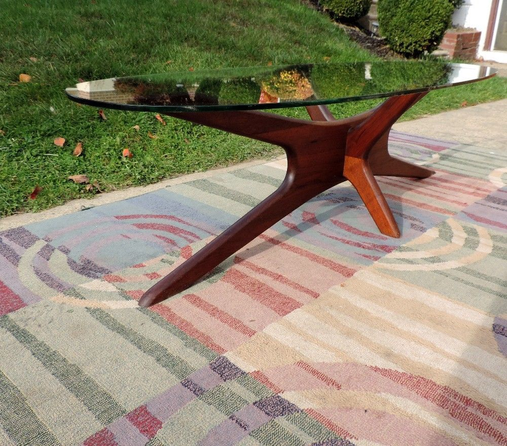 OVAL COFFEE TABLE ADRIAN PEARSALL 1960 WALNUT GL MID CENTURY ... on oval bassinet, oval shelves, oval dining room set, oval mirror, oval bench, oval vanity, oval furniture, oval commode, oval rug, oval closet, oval lighting, oval dresser,