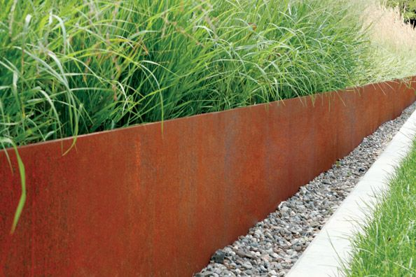 The Planterworx Retaining Wall System Was Developed For Large Scale Custom Planter Environments These Systems Are Manufactur Tuin Cortenstaal Tuin Tuin Ideeen