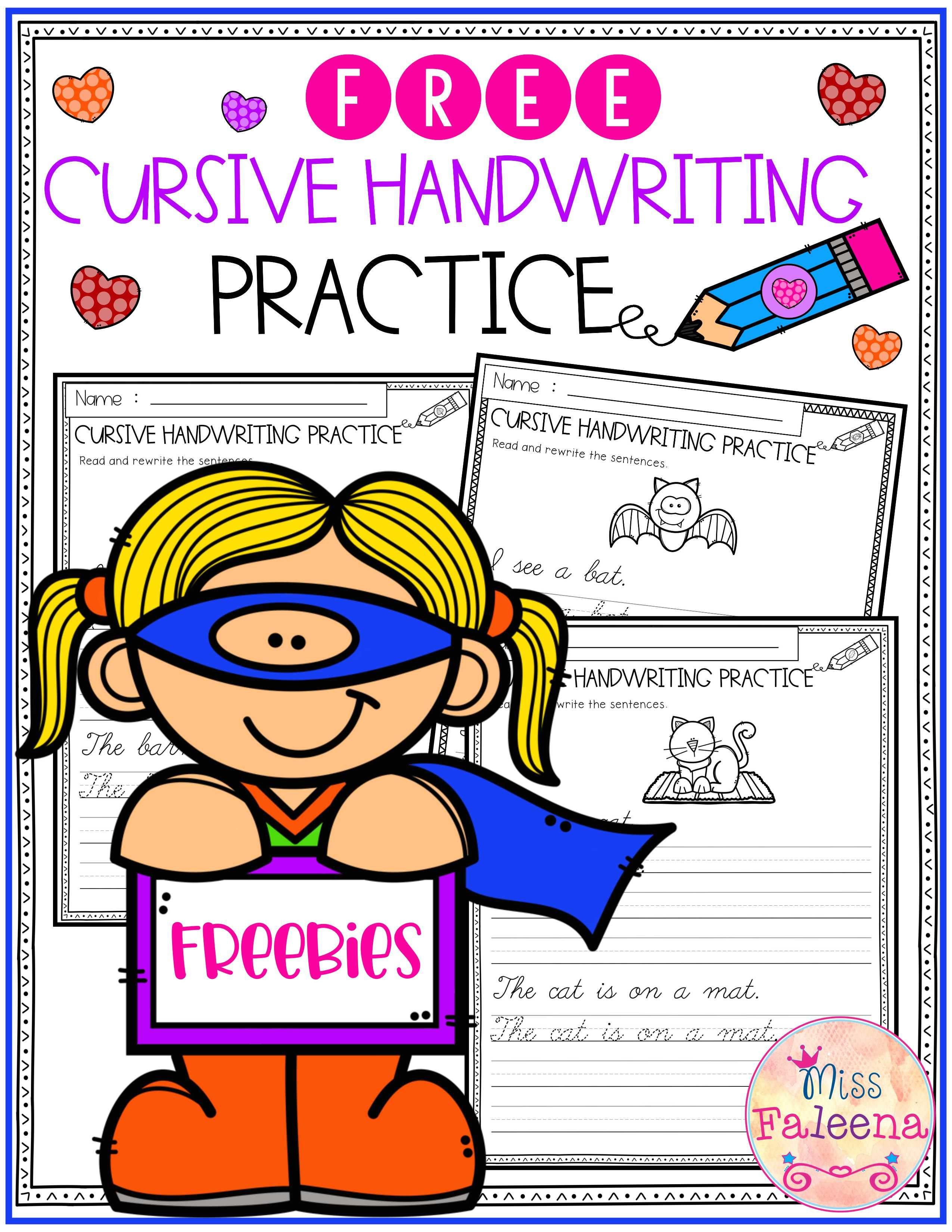 Free Cursive Handwriting Practice