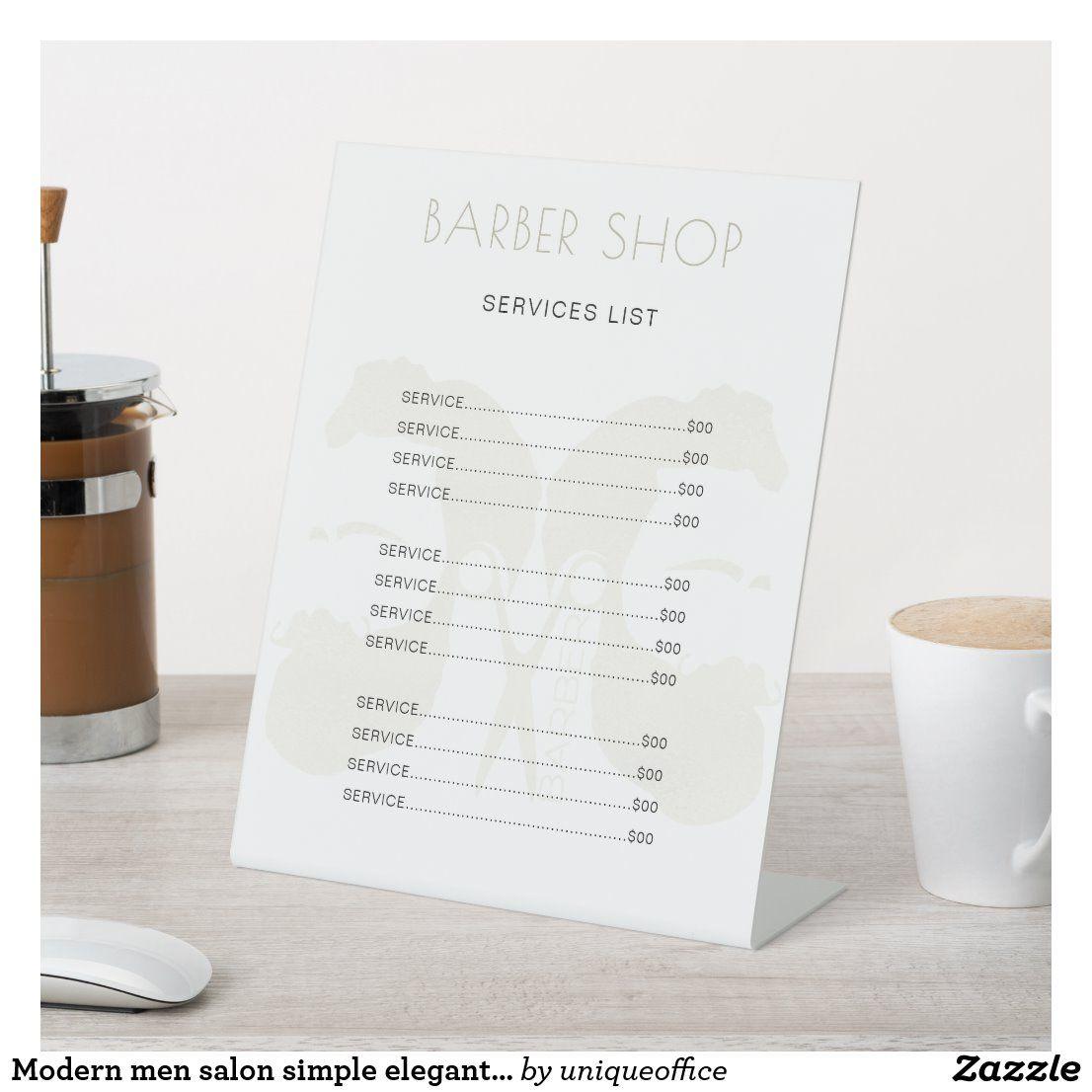 Modern Sleek Hair Stylist Business Card Set Price Menu Price