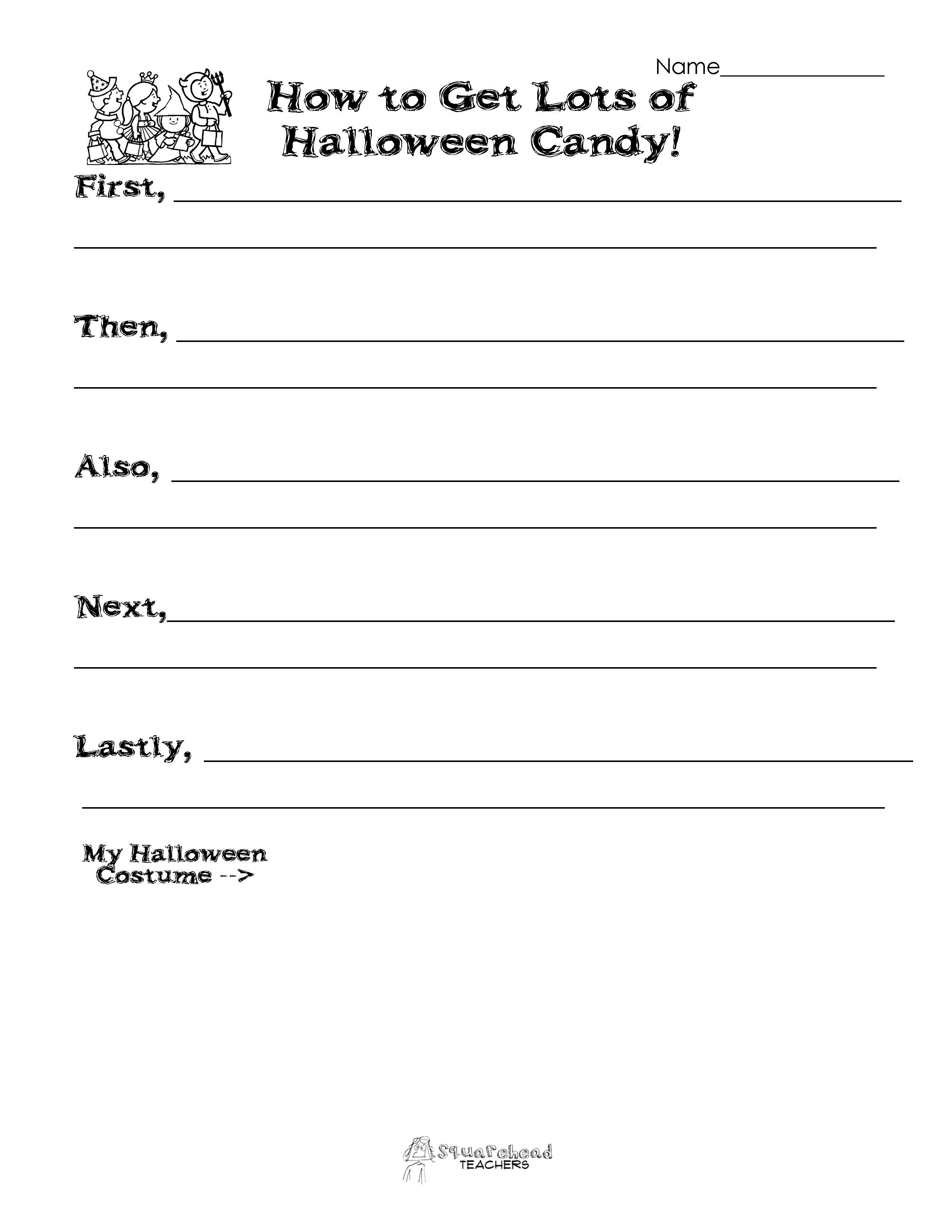 Halloween Writing Activity How To Get Lots Of Halloween