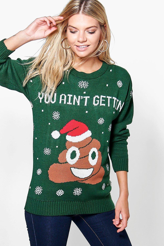 Daisy Poo Emoji Christmas Jumper