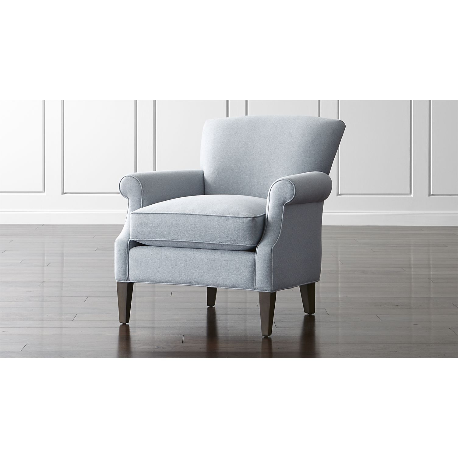 Shop Elyse Light Blue Accent Chair Self Welting Detail