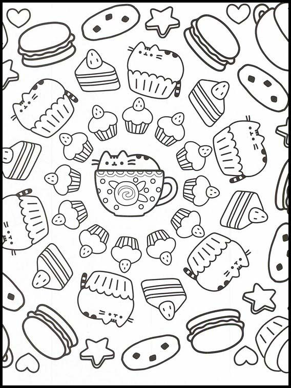 Pusheen 33 Printable Coloring Pages For Kids In 2020 Coloring Books Pusheen Coloring Pages Online Coloring Pages