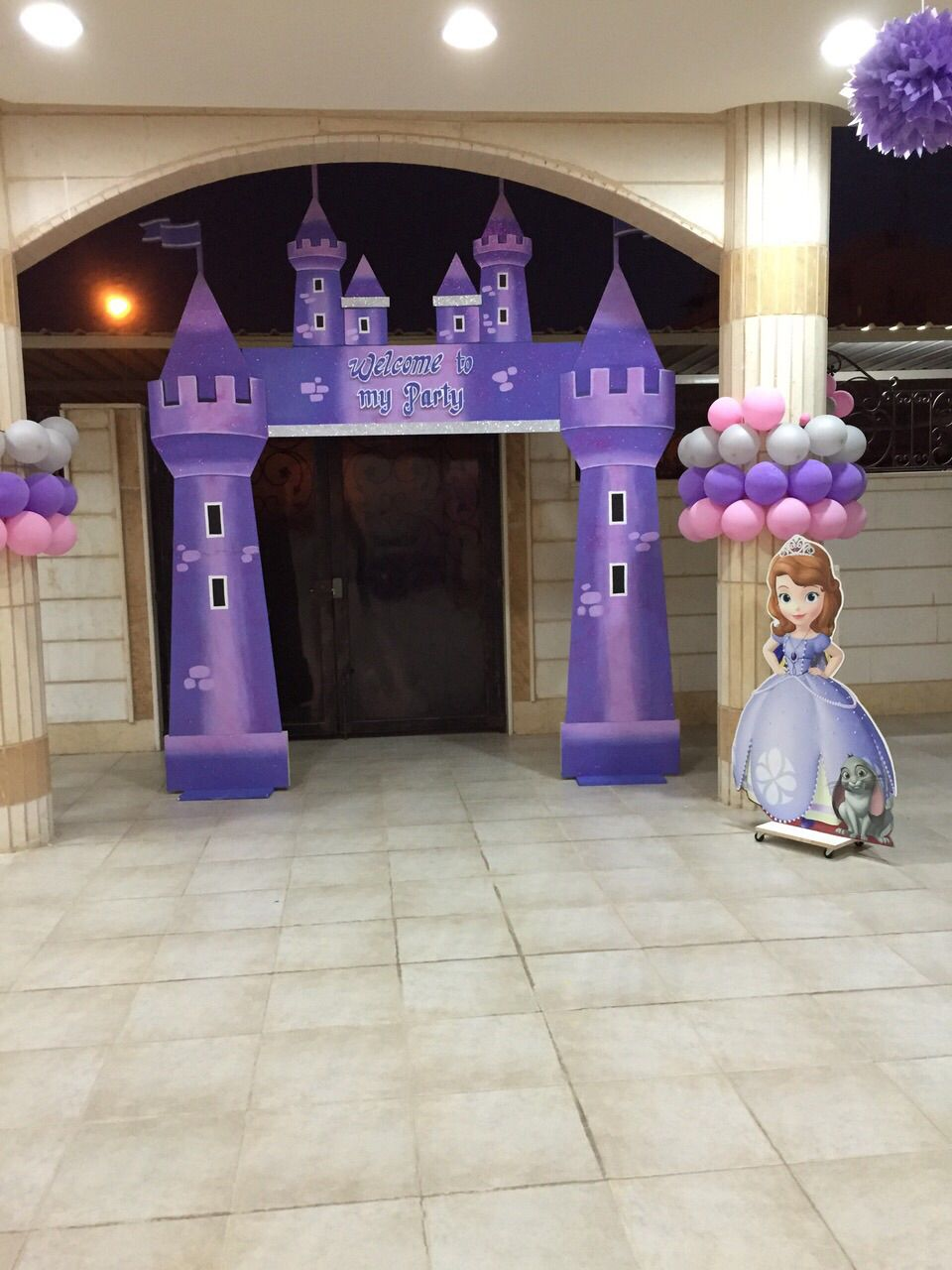 Outdoor kids party Sofia the first Party partystudio Kuwait
