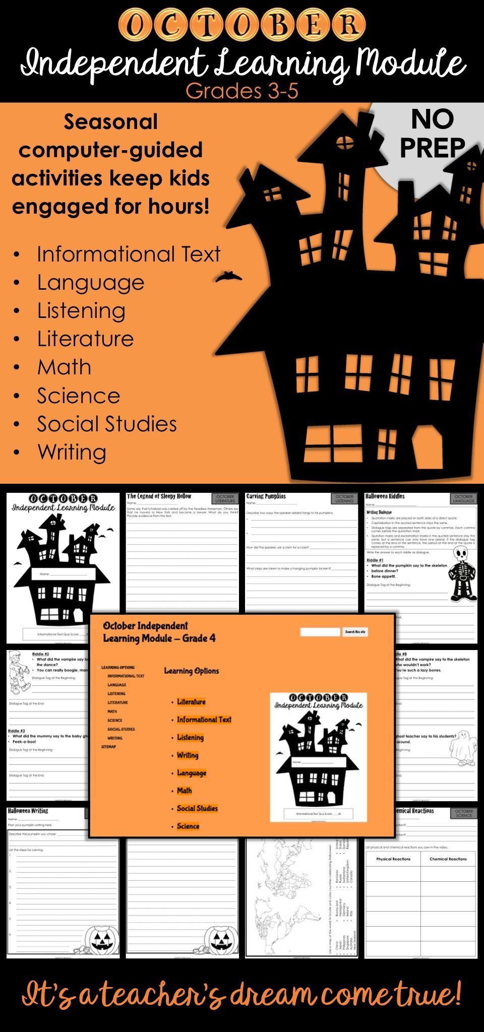 Halloween Chromebook Activities For October Early