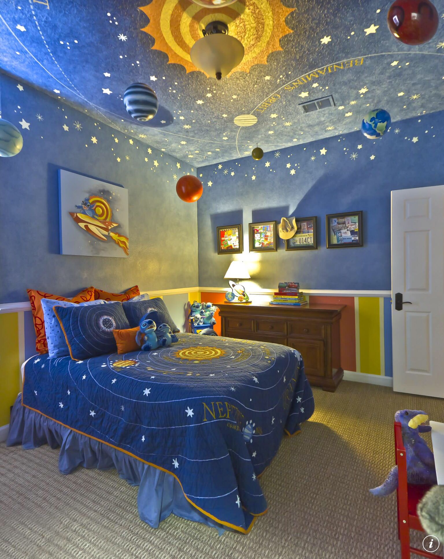 Space Room For Boys Planets Galaxy Blue Room