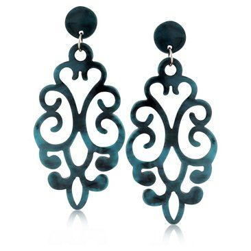 Check out this item at One Kings Lane! Damasque Denim Earrings