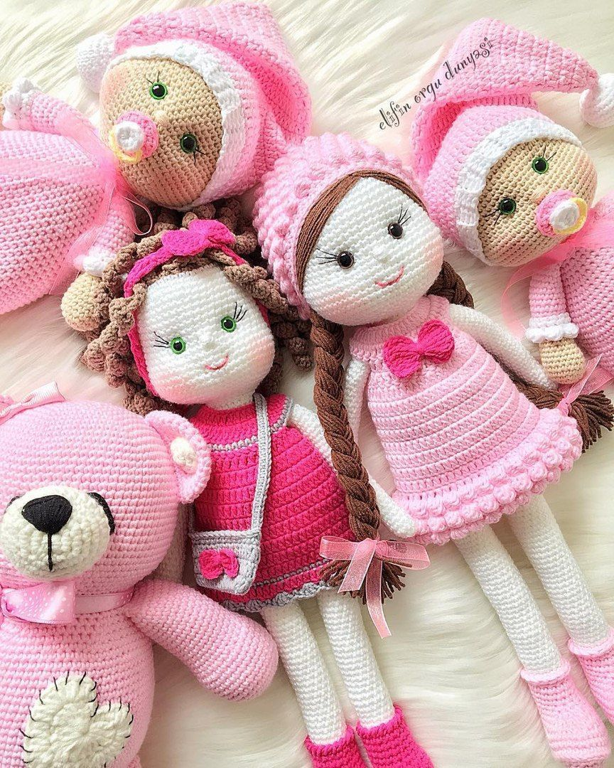 I M In Love With This Crochet Knitted Dolls Crochet Dolls Doll Patterns