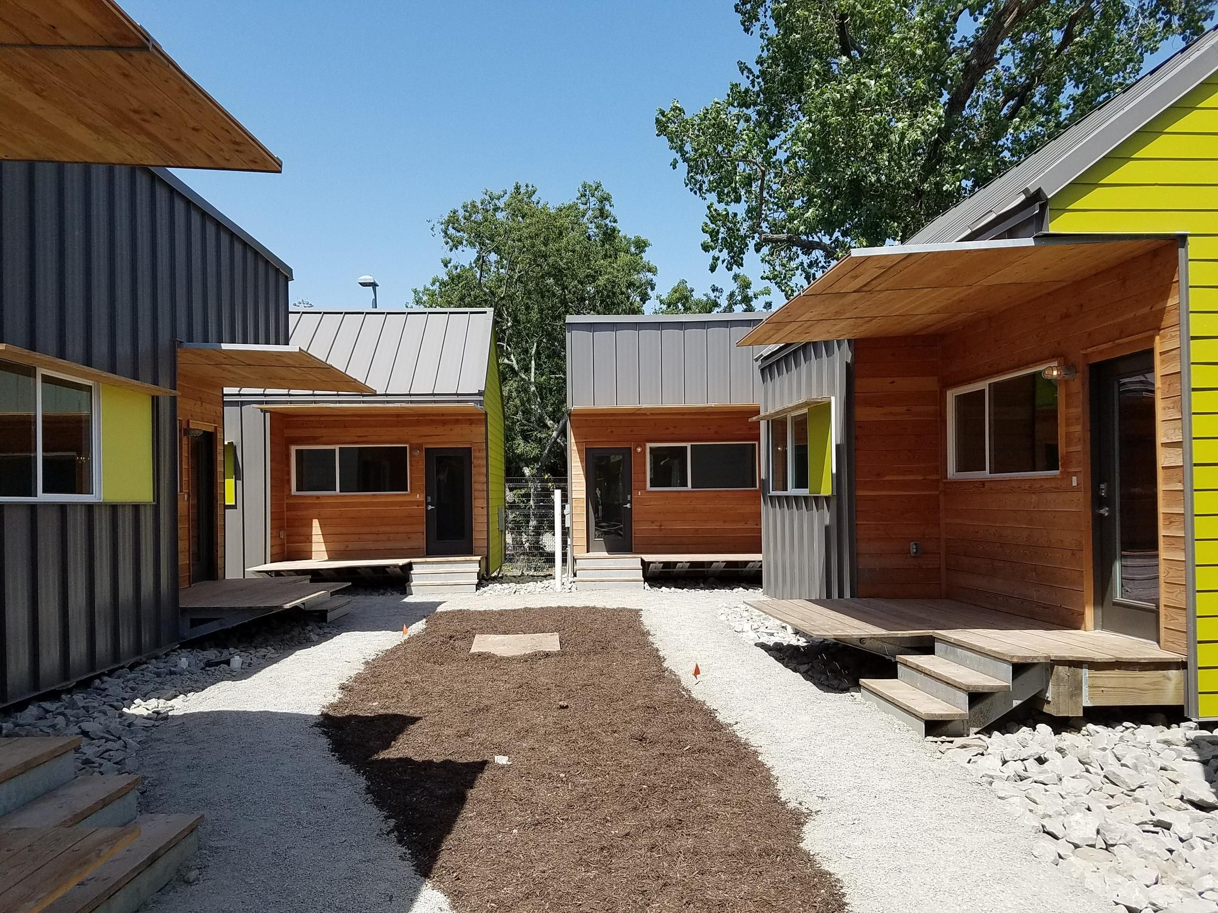 The Cottages At Hickory Crossing Are Designed To House The 50 Homeless People Tiny House Small Cottages Tiny House Plans