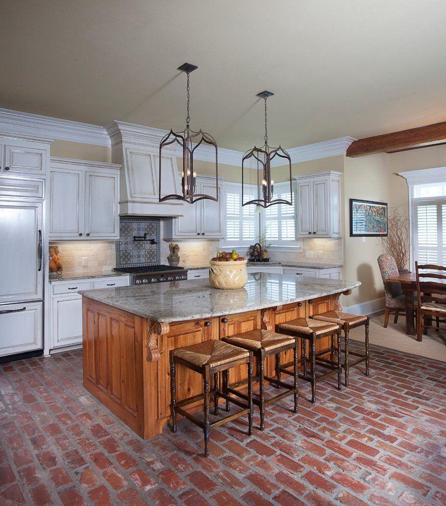 brick floor kitchen brick floor kitchen farmhouse with table resistant brick floor on farmhouse kitchen flooring id=44008