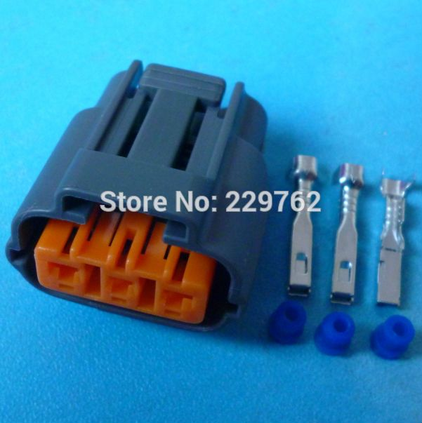 Free Shipping 4Sets 3 Way 3 PIN Waterproof Female Plug Ignition coil ...