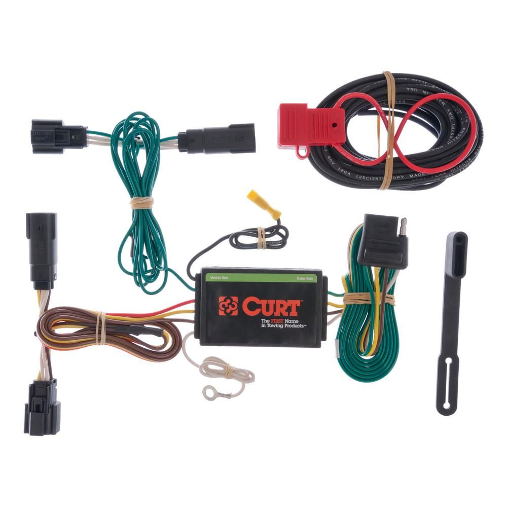 Curt Custom Wiring Harness 4 Way Flat Output 56120 Ford Edge