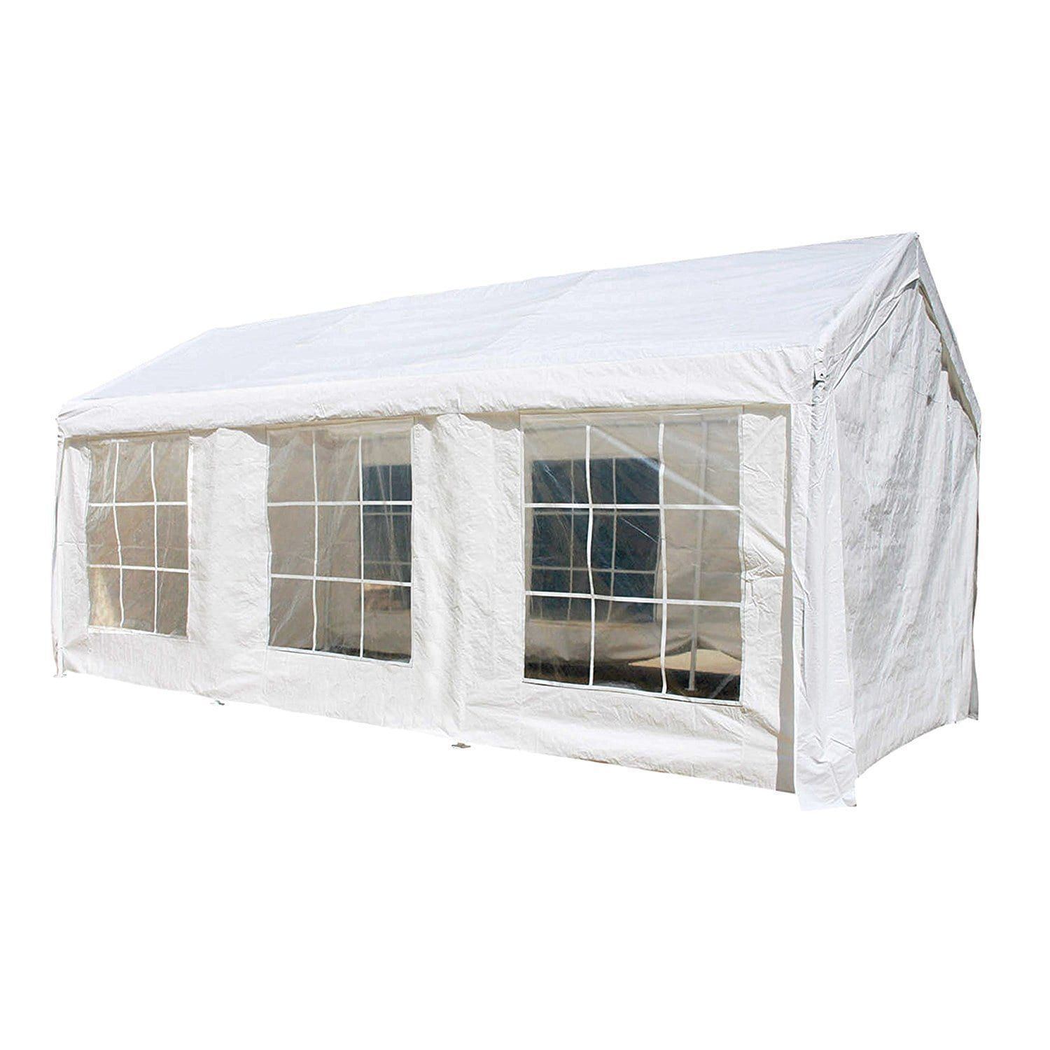 Aleko 10x20 Feet Outdoor White Gazebo Canopy Tent With Sidewalls White Products In 2019 Gazebo Canopy Outdoor Gazebos Canopy Tent