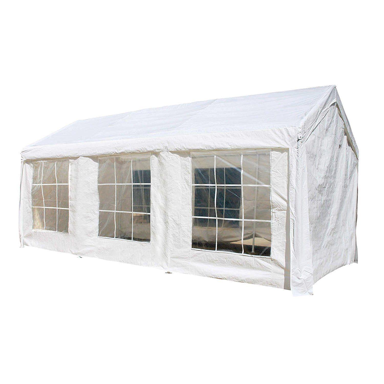 Aleko 10x20 Feet Outdoor White Gazebo Canopy Tent With Sidewalls White Products In 2019 Gazebo Canopy Outdoor Gazebos Canopy Tent