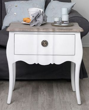 White french bedside table with brass pull round handles for the white french bedside table with brass pull round handles watchthetrailerfo