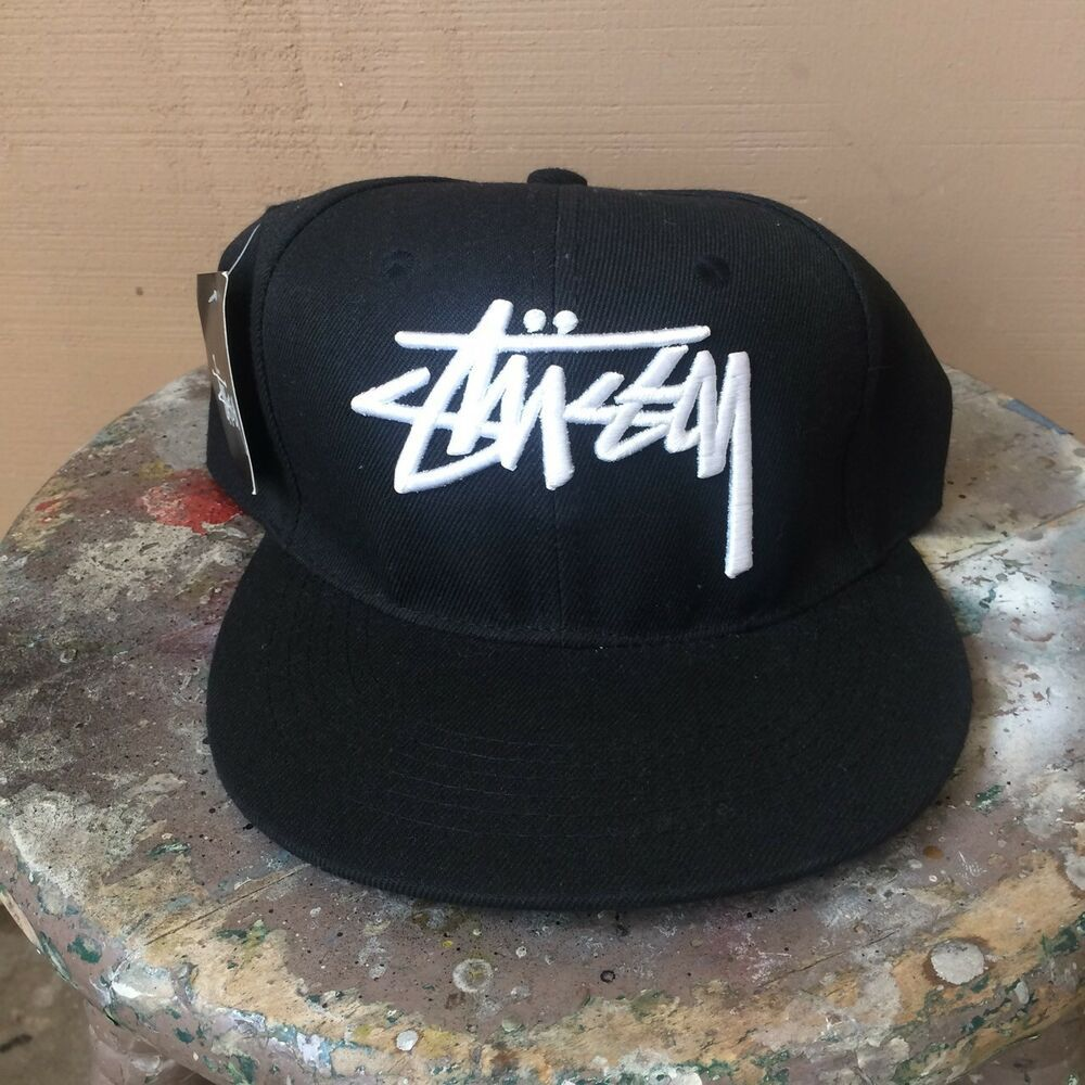 Stussy Snapback Hat Adjustable Streetwear Black Logo  fashion  clothing   shoes  accessories  mensaccessories  hats (ebay link) 7826fff7845