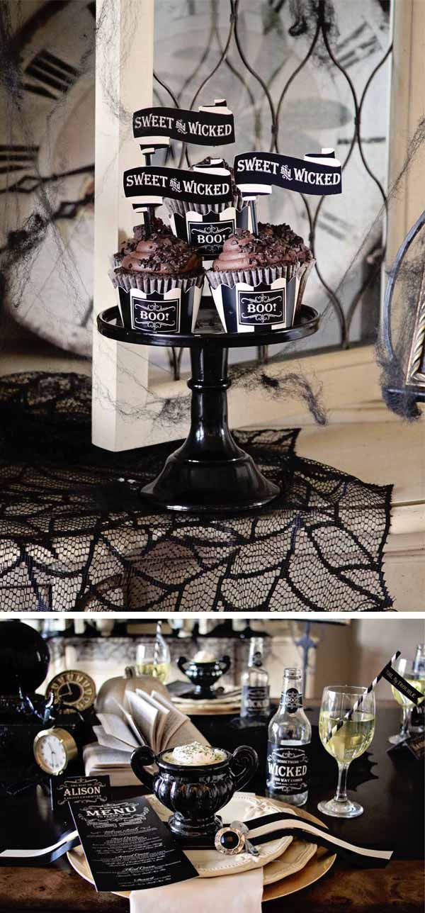 70 Ideas For Elegant Black And White Halloween Decor Halloween - classy halloween decor