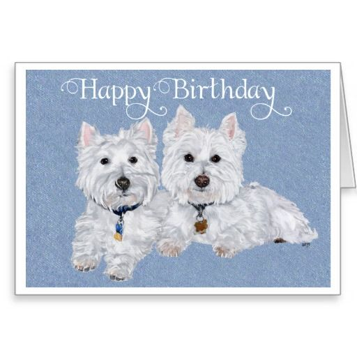 Westie Birthday Card Animal