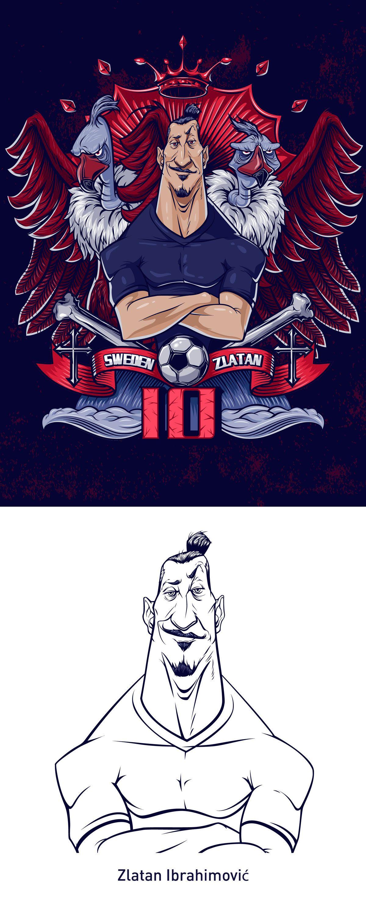 Ibrahimovic on Behance Football art, Zlatan ibrahimović