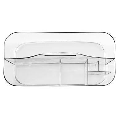 Large Plastic Vanity Makeup Storage Caddy Tote