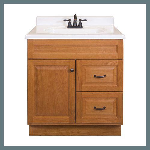 Project Source 30 In Golden Bathroom Vanity Cabinet At Lowes Com Oak Vanity Bathroom Bathroom