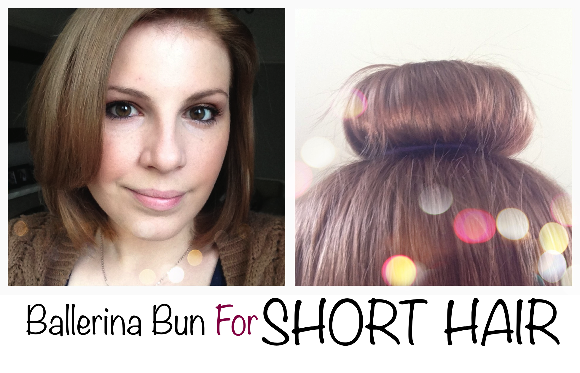 Ballerina Bun For Short Hair Short Hair Bun Short Hair Styles Bun Hairstyles For Long Hair