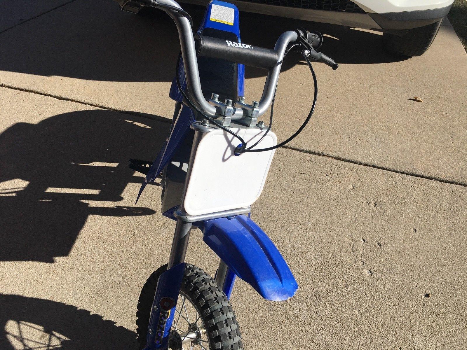 Razor Electric Dirt Bike Motorcycle Zr350 Blue Slightly Used Electric Dirt Bike Dirt Bike Motorcycle