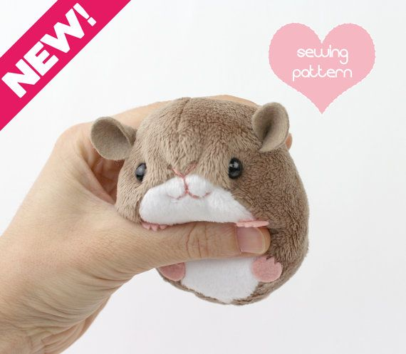 PDF sewing pattern - plush hamster mouse rat guinea pig rodent ...