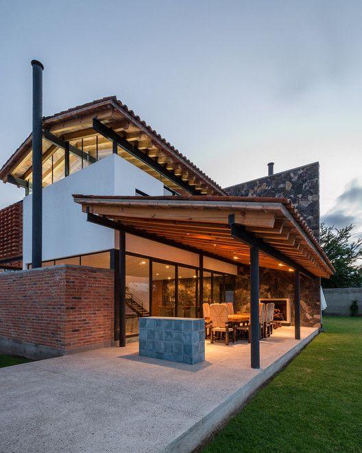 Casa san juan c3 arquitectos san juan santos y planos for Casas modernas mexicanas