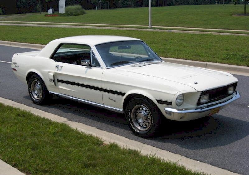 Wimbledon White 1968 Mustang Gt California Special Hardtop 1968 Mustang 1968 Mustang Gt Mustang