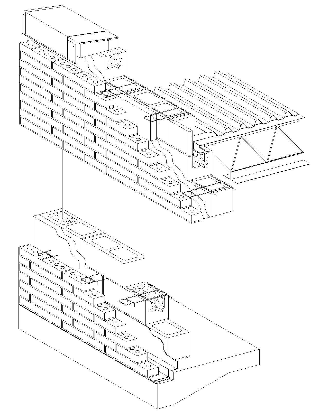 Cavity Wall Brick Veneer Reinforced Concrete Block Jpg