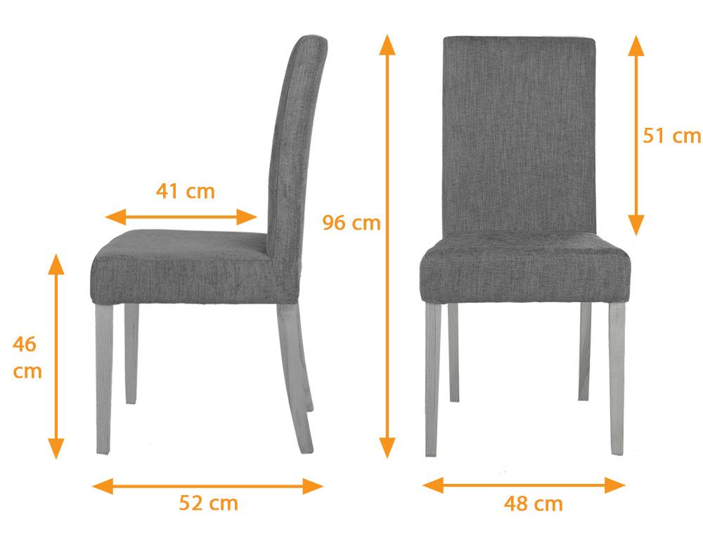 Vasa Modern Fabric Dining Chair With Changeable Cover Nut