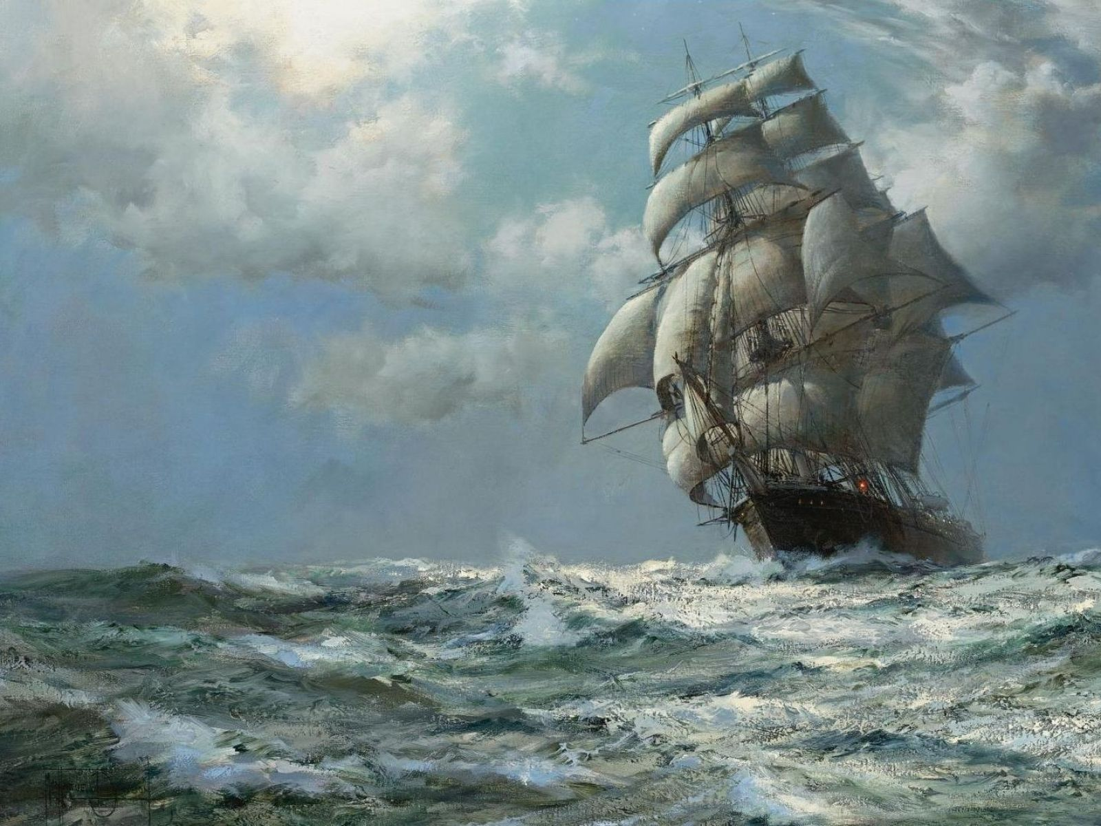 famous sailing ship paintings