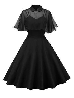 1950s Cape Patchwork Swing Dress #vintagedresses