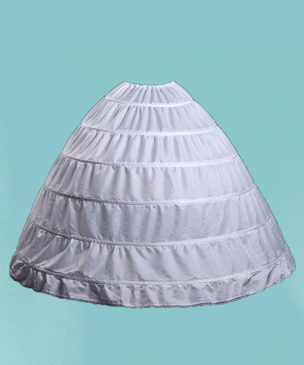 Women\'s Petticoat Skirt Puffy Ball Gown Slips 6 Hoop Crinoline ...