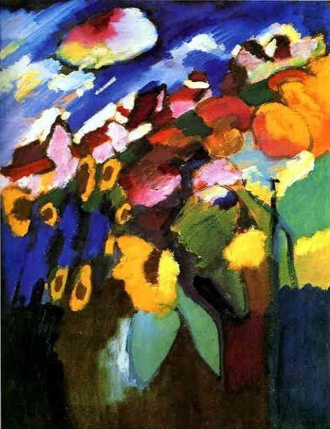 Wassily Kandinsky - Murnau Garden, 1910. ◉ [Switzerland. The Merzbacher collection]