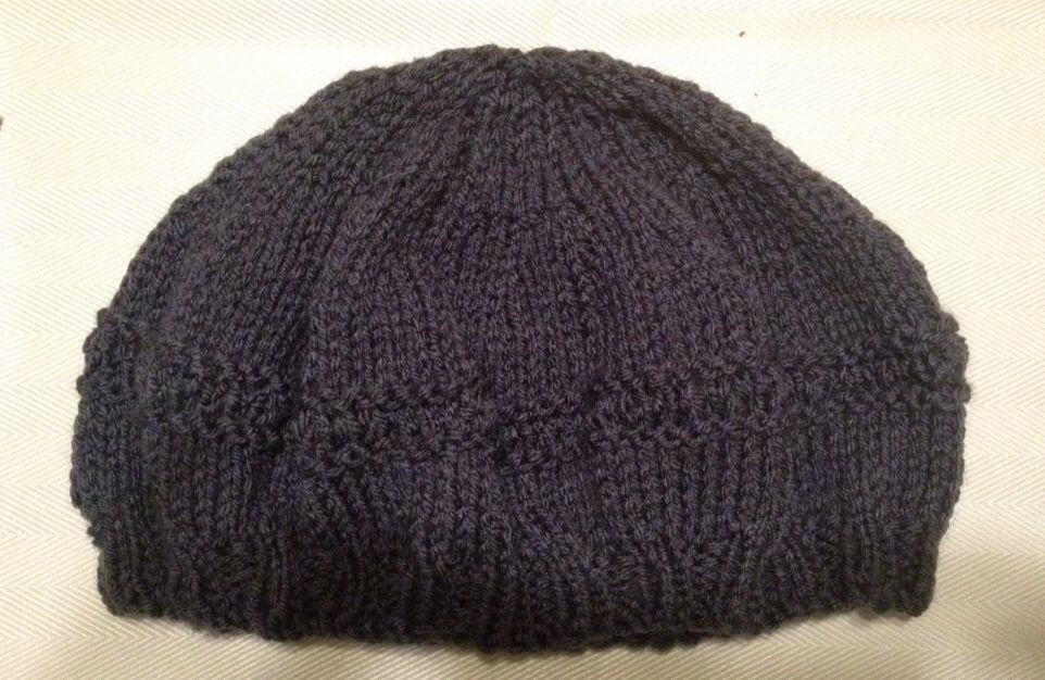 Knit beret / shallow slouchy hat (n9/10.5) Brioche pattern