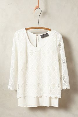 Sunday in Brooklyn Laced Trellis Top #anthrofave #anthropologie