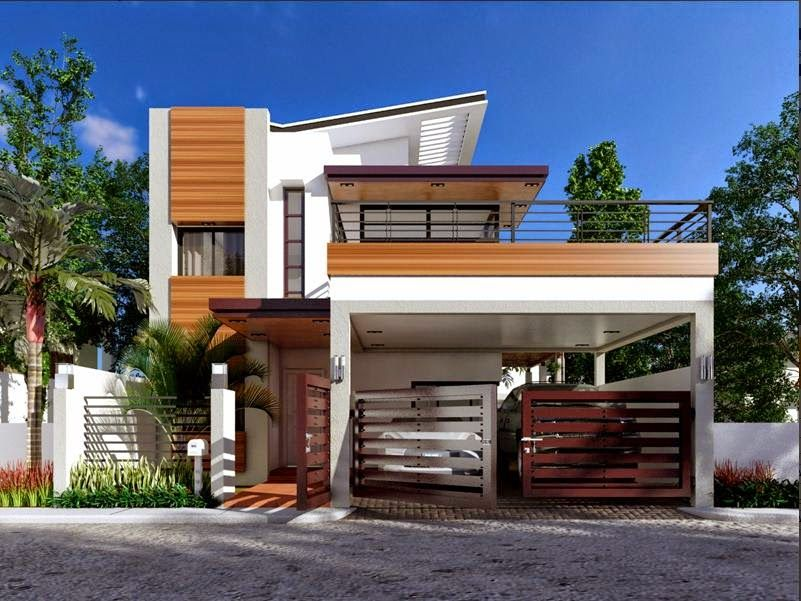 Plan Description Modern House Design Is A  Bedroom Two Story House Which Can Be Built In A  Sq Lot Having A Minimum Lot Frontage Of  Meters