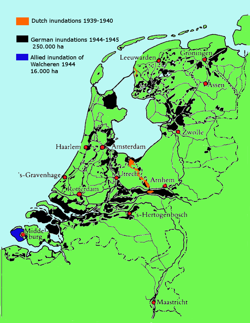 The Drowned Country inundations in the Netherlands 19391945 MAPS
