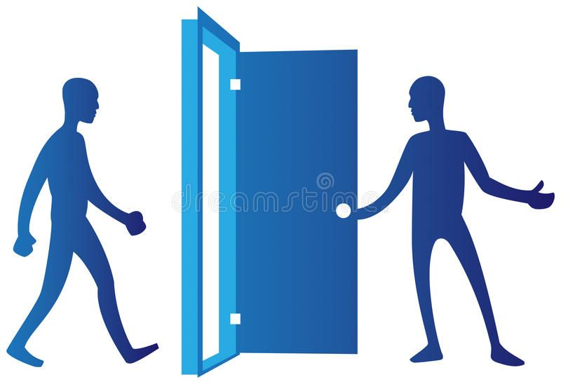 Person Opening Door An Illustration Of A Man Opening A Door For