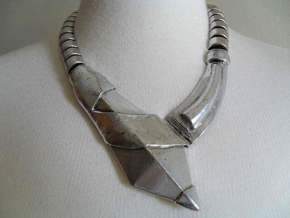 The Arrow  Modernist Statement Silver Metal by thingsofsplendor, $69.00