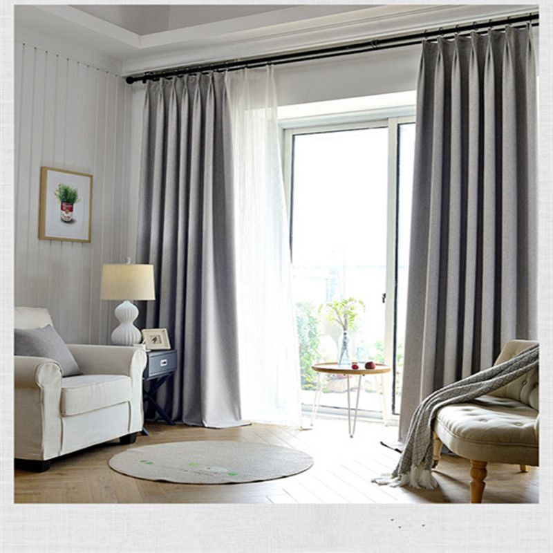 Solid Colors Blackout Curtains For The Bedroom Faux Linen Modern Curtains For Living Room Window Curt Curtains Living Room Window Curtains Living Room Curtains