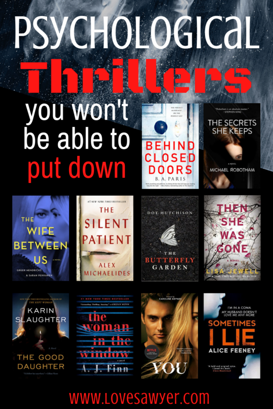 Gripping Psychological Thrillers - Book List - Love, Sawyer